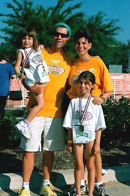Ryan Family at the first kids tri.